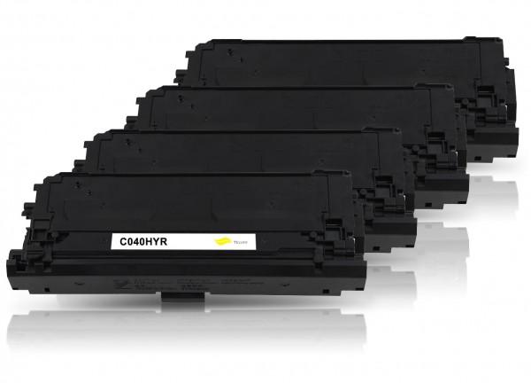 Kompatibel zu Canon 040H / 0461C001 0459C001 0457C001 0455C001 Toner Multipack CMYK (4er Set)