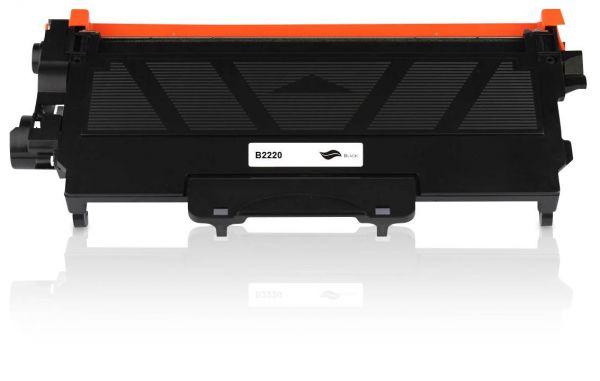 Ansicht des Brother TN-2220 kompatiblen Toners in Schwarz von oben
