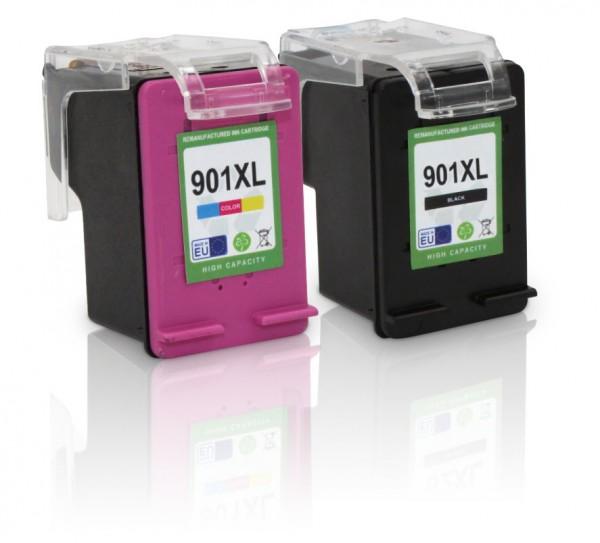 Kompatibel zu HP 901 XL / SD519AE Tinten Multipack (1x Black / 1x Color)