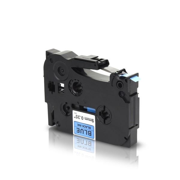 Kompatibel zu Brother TZE-521 P-Touch Schriftband 9mm Schwarz auf Blau