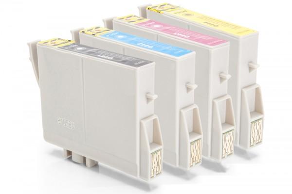 Kompatibel zu Epson C13T04414010 C13T04424010 C13T04434010 C13T04444010 Tinten Multipack CMYK (4er Set)