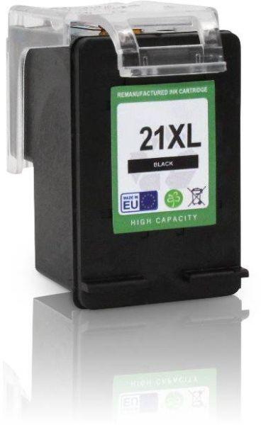 Seitenansicht von links der HP 21 kompatiblen Tintenpatrone in Schwarz