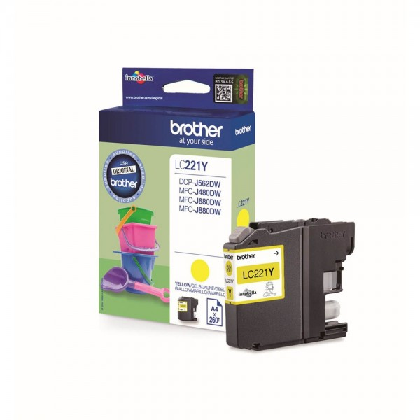 Brother LC-221Y Tinte Yellow
