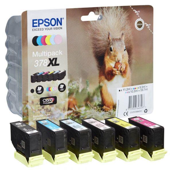 Epson 378 XL / C13T37984010 Tinten Multipack CMYK (6er Set)