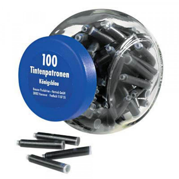 Pelikan Füllerpatronen löschbar 4001 TP / 6 königsblau (100er Pack)