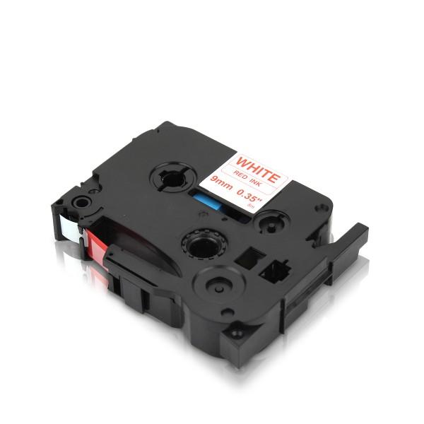 Kompatibel zu Brother TZE-222 P-Touch Schriftband 9mm Rot auf Weiss