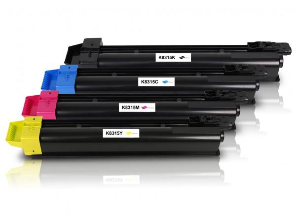 Kompatibel zu Kyocera TK-8315 Toner Multipack CMYK (4er Set)