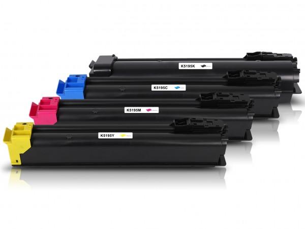 Kompatibel zu Kyocera TK-5195 Multipack CMYK (4er Set)