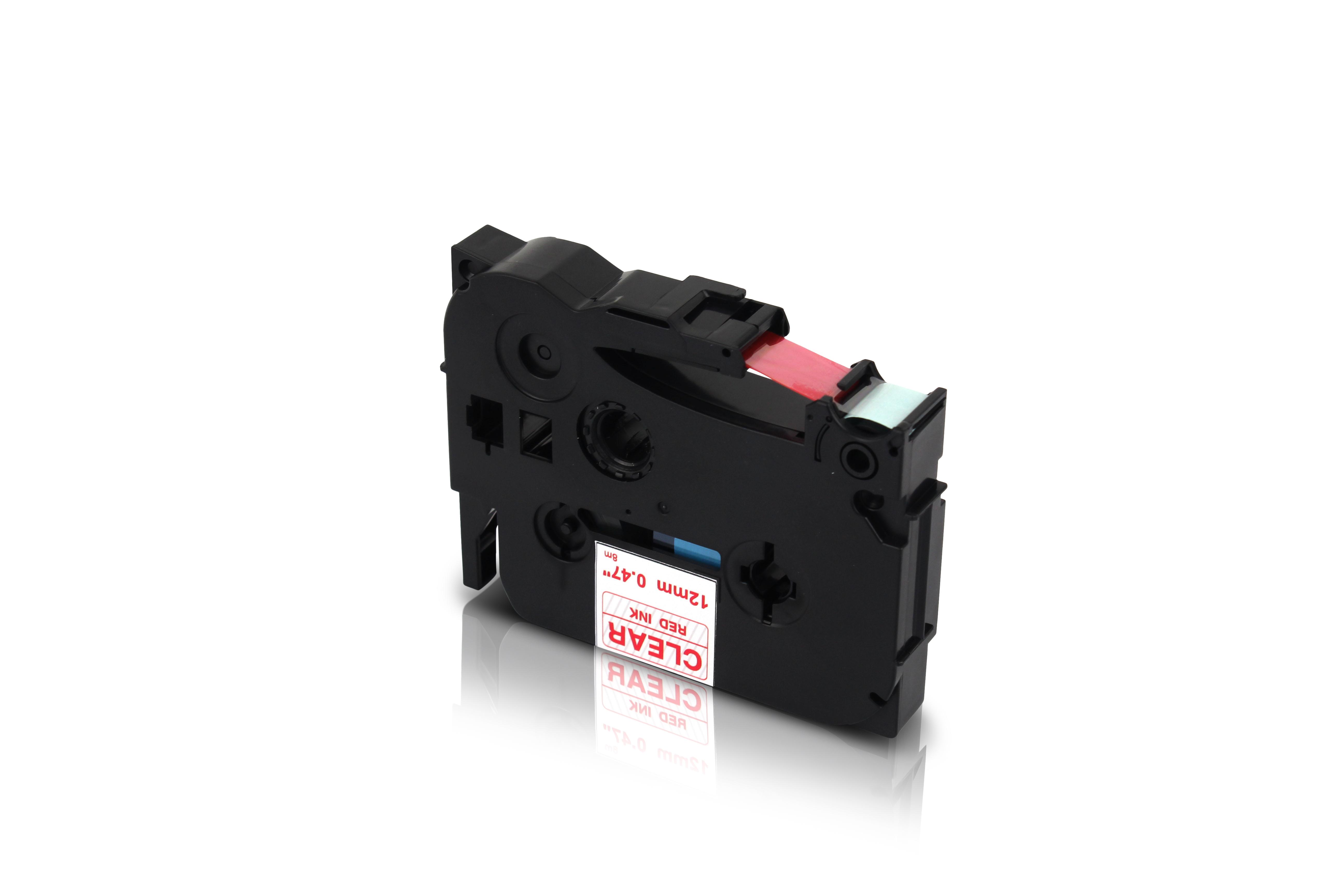 2 Schriftbänder kompatibel zu Brother P-Touch TZE-222 8m//9mm Rot auf Weiß