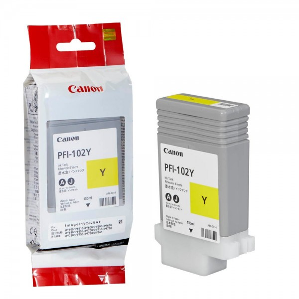 Canon PFI-102Y / 0898B001 Tinte Yellow