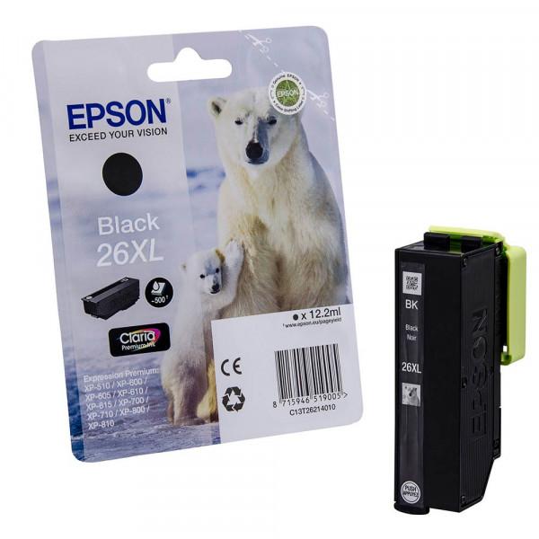 Epson 26 XL / C13T26214010 Tinte Black