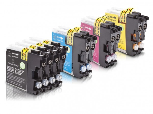 Kompatibel zu Brother LC-980 XL Tinten Multipack CMYK (10er Set)