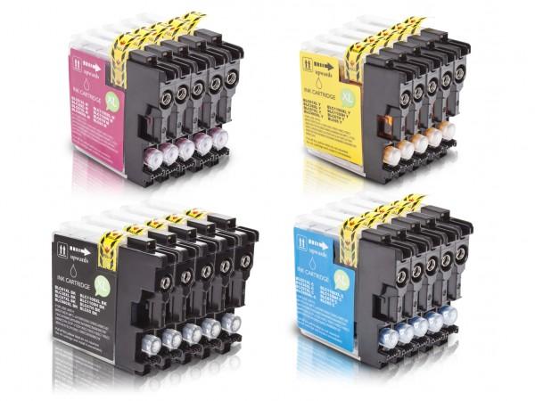 Kompatibel zu Brother LC-980 XL Tinten Multipack CMYK (20er Set)