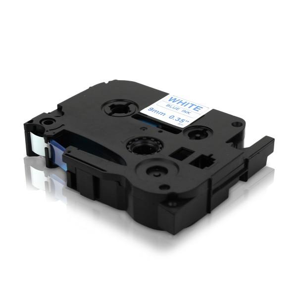 Kompatibel zu Brother TZE-223 P-Touch Schriftband 9mm Blau auf Weiss