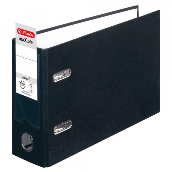 Herlitz max.file Ordner schwarz DIN A5 quer (8,0 cm)