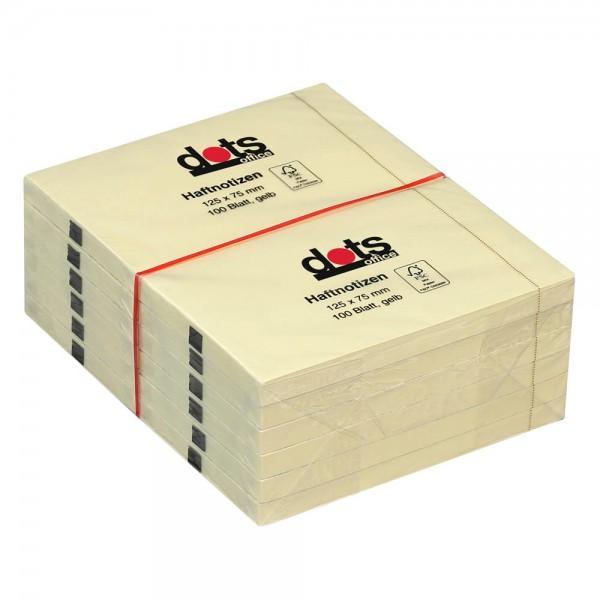 Dots Haftnotiz 125 x 75mm gelb (12er Pack)