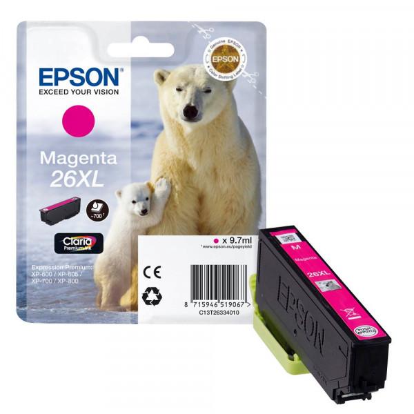 Epson 26 XL / C13T26334010 Tinte Magenta