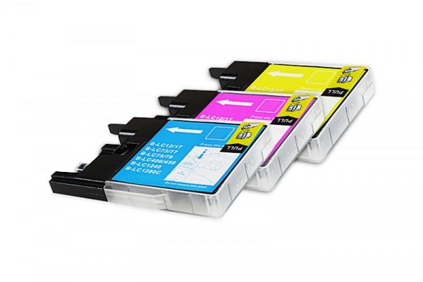 Kompatibel zu Brother LC-1280XLRBWP Tinten Multipack CMY (3er Set)