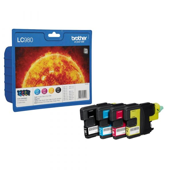 Brother LC-980 Tinten Multipack CMYK (4er Set)