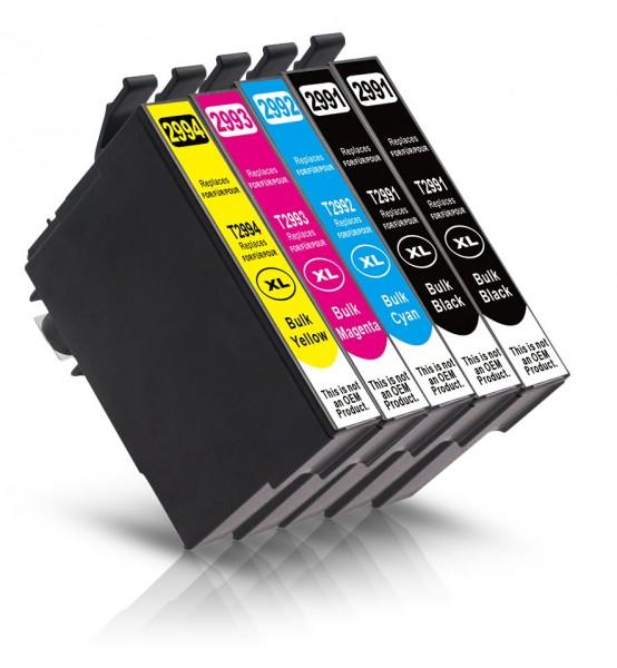 Kompatibel zu Epson 29 XL Tinten Multipack CMYK (5er Set)