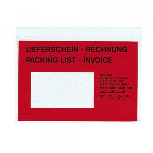 VP Lieferschein-/ Rechnungstasche DIN C6 selbstklebend - 250 Stk.