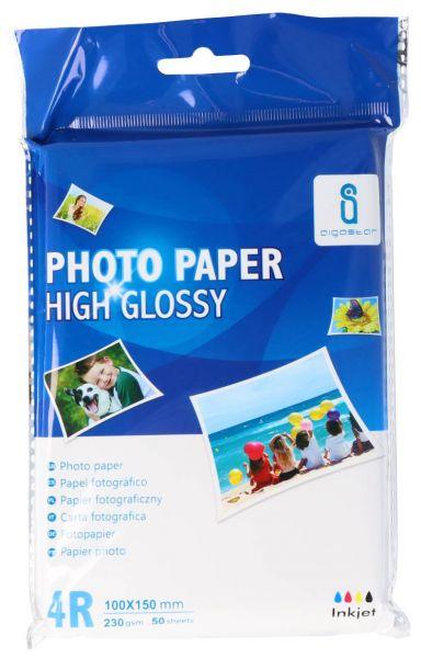 Glossy Fotopapier 10x15cm (230g/qm) 50 Stück
