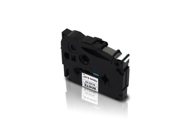 Kompatibel zu Brother TZE-231 P-Touch Schriftband 12mm Schwarz auf Weiss
