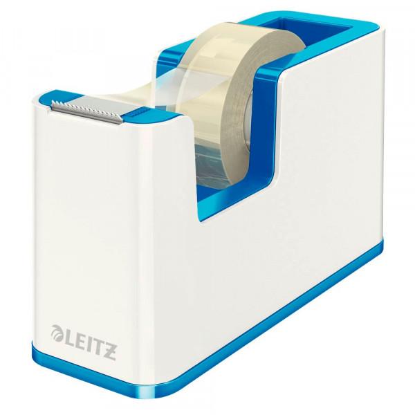 Leitz Klebefilmabroller WOW Duo Colour perlweiß / blau