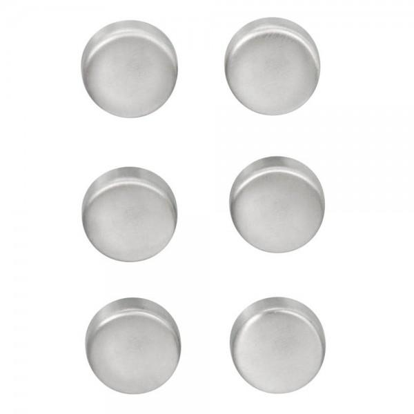 Zeller Magnet-Set aus Edelstahl (6er Pack)