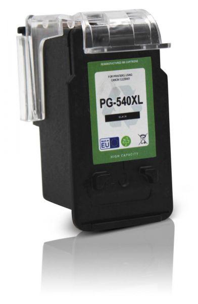 Frontalansicht der Canon PG-540 kompatiblen schwarzen Druckerpatrone