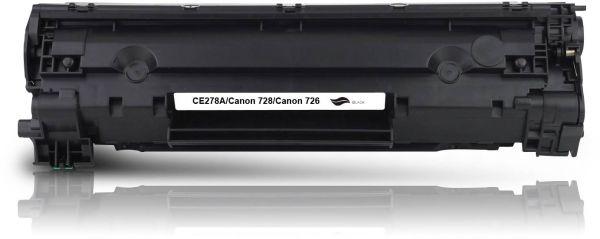 Frontalansicht des HP CE278A kompatiblen Toners in Schwarz
