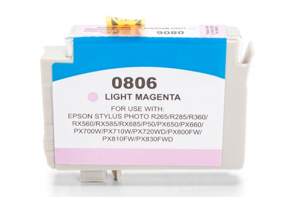 Alternativ zu Epson C13T08064010 / T0806 Tinte Light Magenta