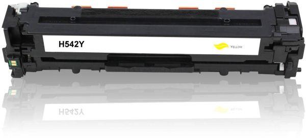 Frontalansicht des HP CB542A kompatiblen Toners in Gelb