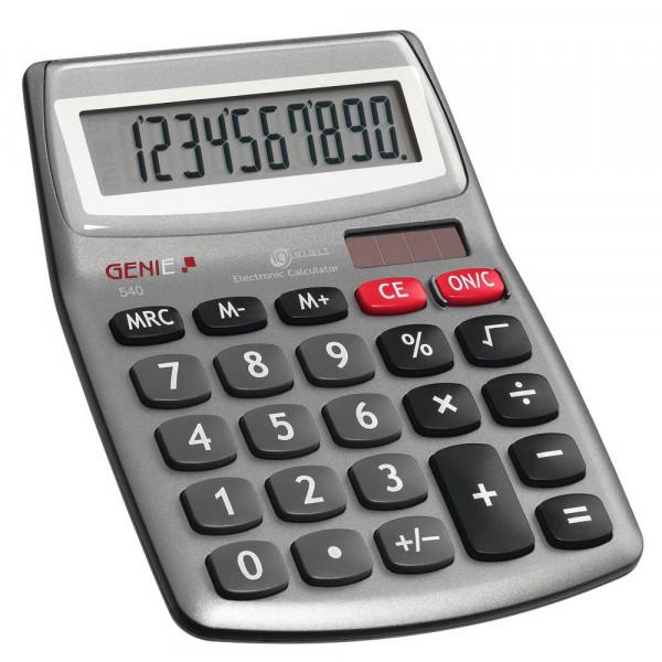 Genie Tischrechner / Taschenrechner 540 Silber