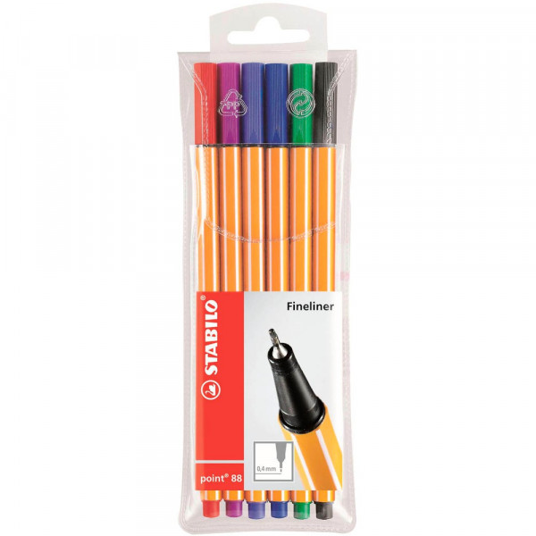 Stabilo point 88 Fineliner farbsortiert (6er Set)