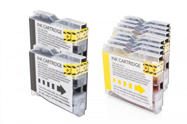 Kompatibel zu Brother LC-970 Tinten Multipack CMYK (10er Set)