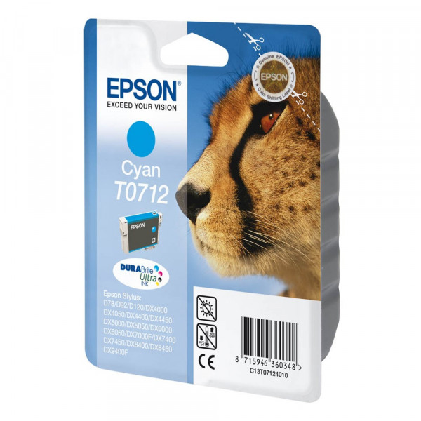 Epson T0712 / C13T07124012 Tinte Cyan