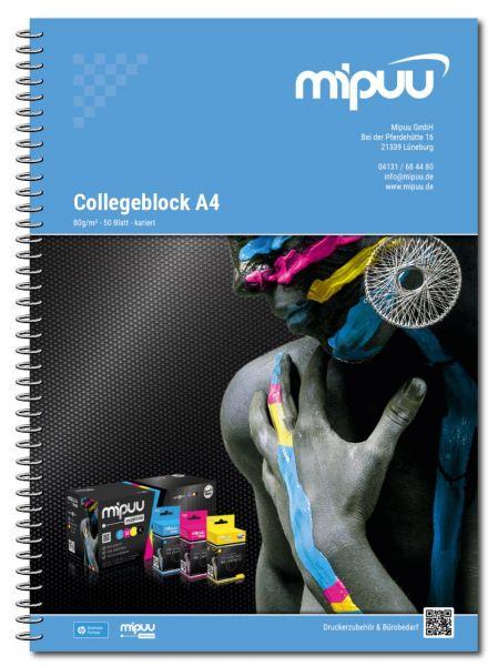 Frontalansicht des Mipuu Collegeblocks im Format DIN-A4