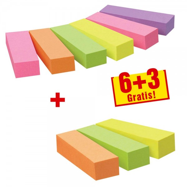 Post-it Page Marker Neon (15 x 50 mm) 9 x 100 Blatt