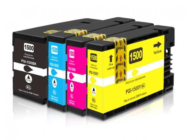 Kompatibel zu Canon PGI-1500 XL / 9182B004 Tinten Multipack CMYK (4er Set)