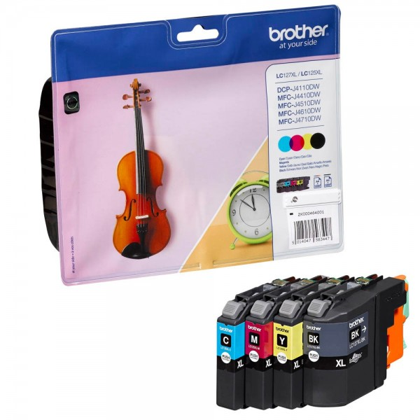 Brother LC-127 XL VALBP Tinten Multipack CMYK (4er Set)