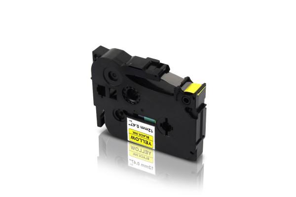 Kompatibel zu Brother TZE-631 P-Touch Schriftband 12mm Schwarz auf Gelb