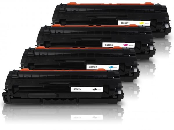 Kompatibel zu Samsung CLT-K506L CLT-C506L CLT-M506L CLT-Y506L Toner Multipack CMYK (4er Set)
