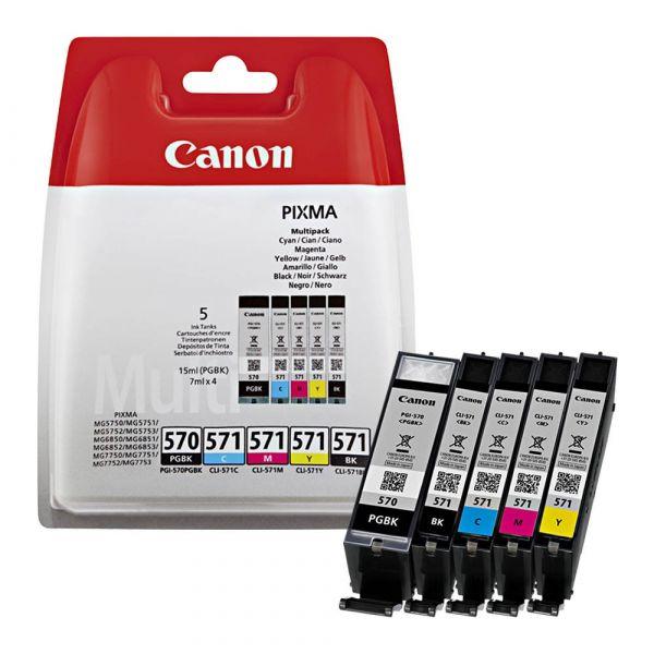 Canon PGI-570 / CLI-571 / 0372C004 Tinten Multipack CMYK (5er Set)