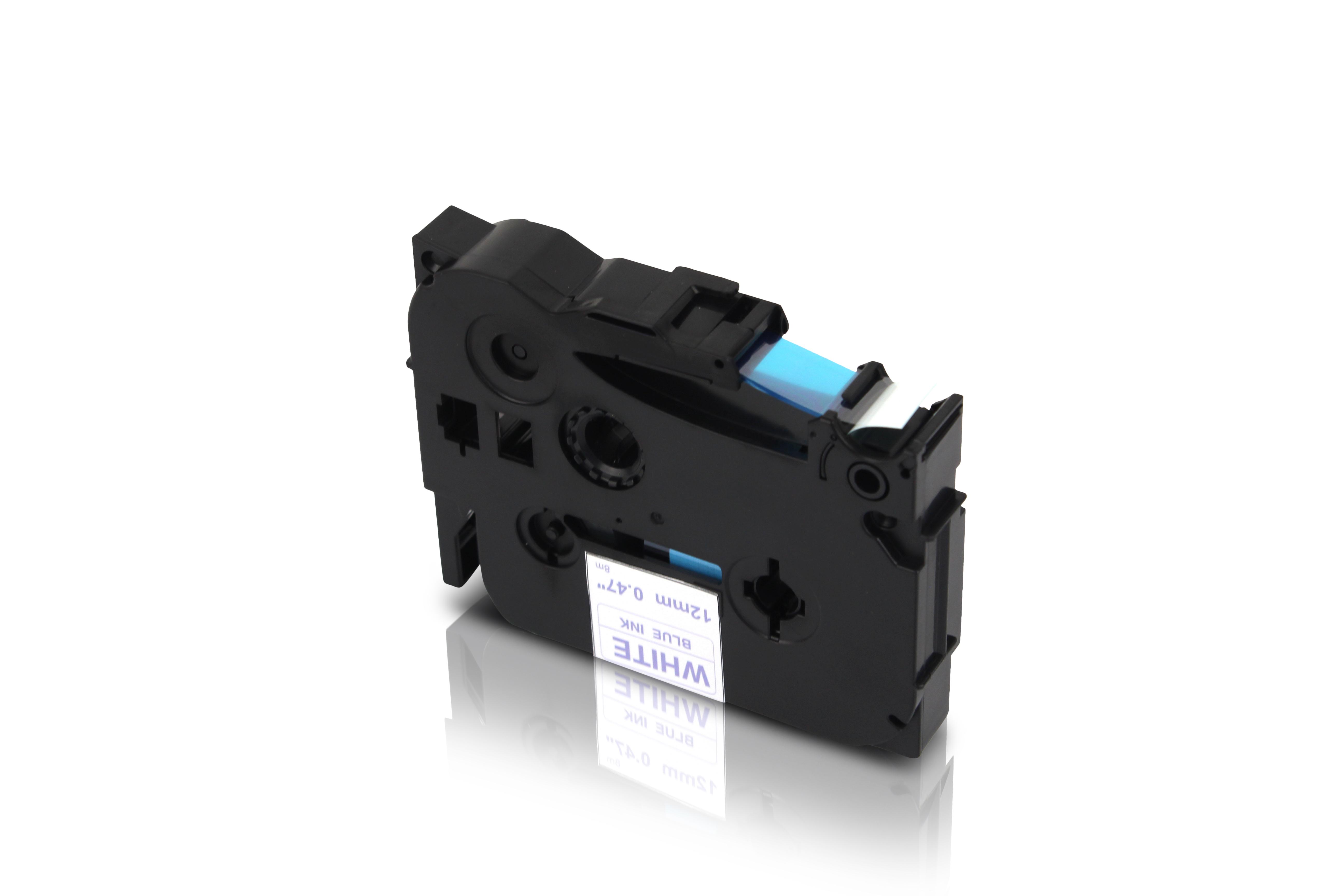 OEM brother Schriftband P-Touch 200 schwarz blau TZe-531 laminiert 8m 12mm