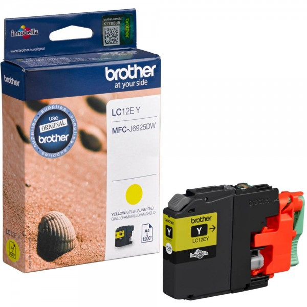 Brother LC-12EY Tinte Yellow