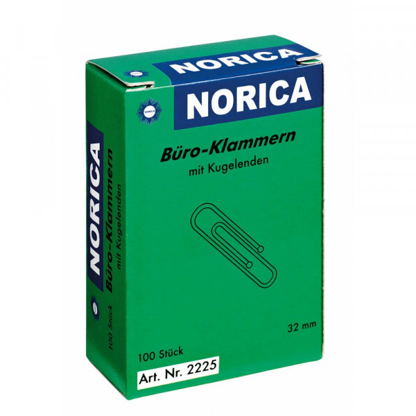 Alco Norica Büroklammern mit Kugelende 3,2 cm (100 Stück)