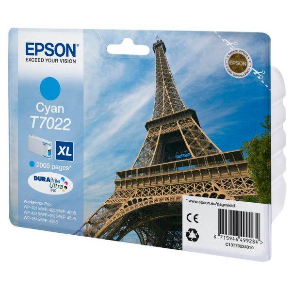 Epson T7022 XL / C13T70224010 Tinte Cyan