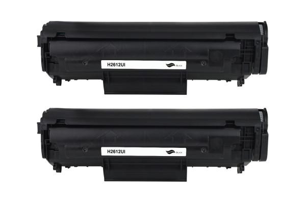 Kompatibel zu HP Q2612AD / 12AD Toner Black (2er Pack)