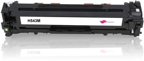 Frontalansicht des HP CB543A kompatiblen Toners in Magenta